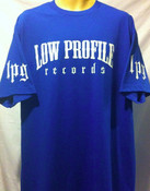Image of  LOWPROFILE RECORDS BLUE  T-SHIRT SUPER SALE