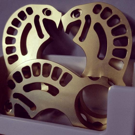 Image of Brass Kobra - Keychain Bottle Opener