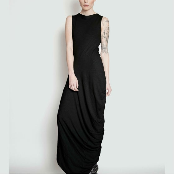 Image of TRAVERS twist drape maxi dress
