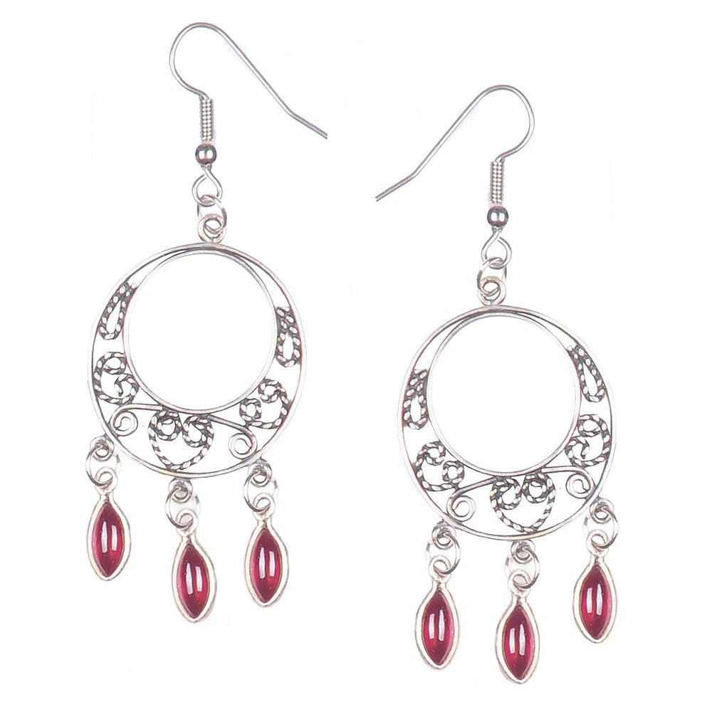 Image of GRANADA GARNET CHANDELIER EARRINGS