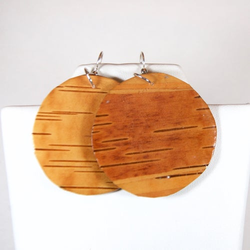 Image of Exquisite Birch Circle Earrings