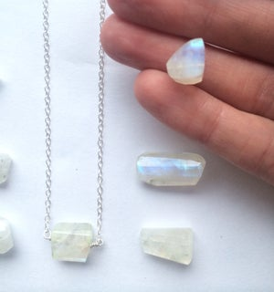 Image of Moonstone Necklace - sterling silver