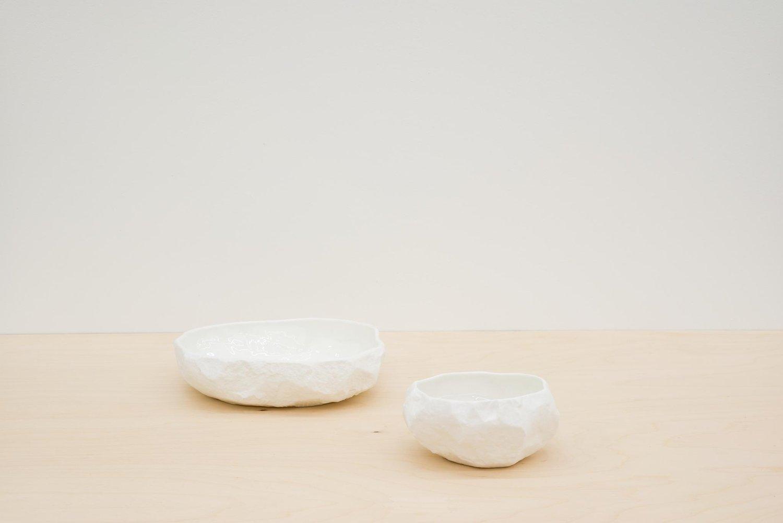 Image of Max Lamb - Crockery large flat bowl, White