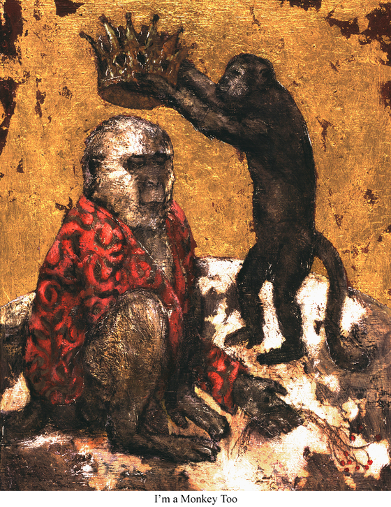 Image of Canvas Giclee- I'm a Monkey Too
