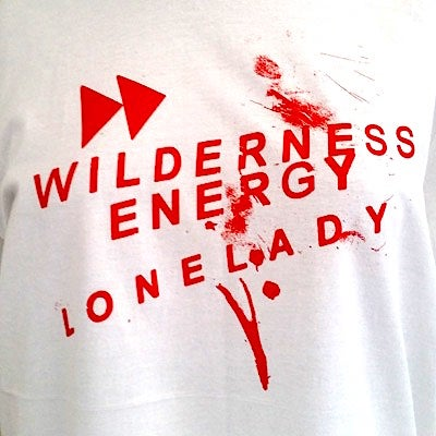 Image of LONELADY 'WILDERNESS ENERGY' T-SHIRT (SIZE XL HAS SOLD OUT!)