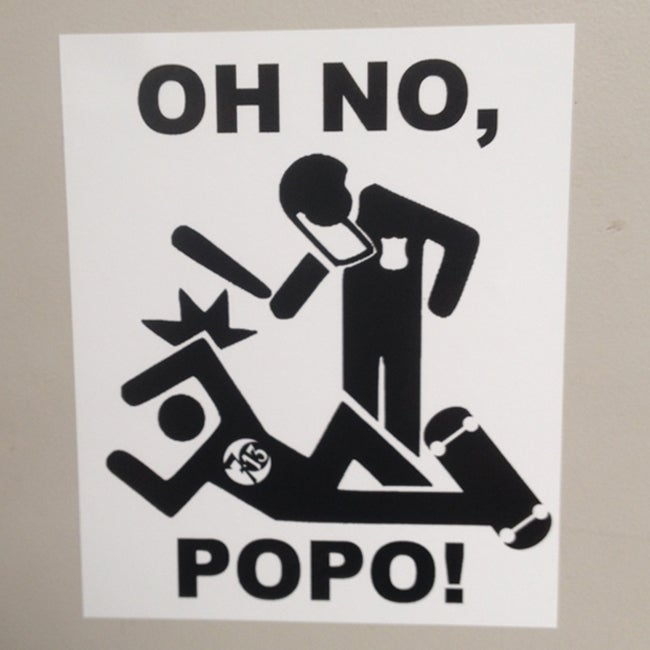 Image of Oh No Popo Vinyl Sticker ACAB