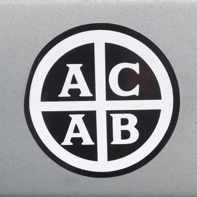 Image of ACAB Round Vinyl Sticker
