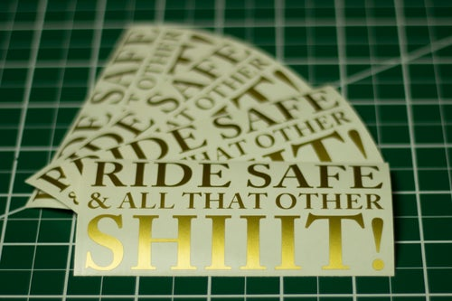 Image of Ride Safe Decals