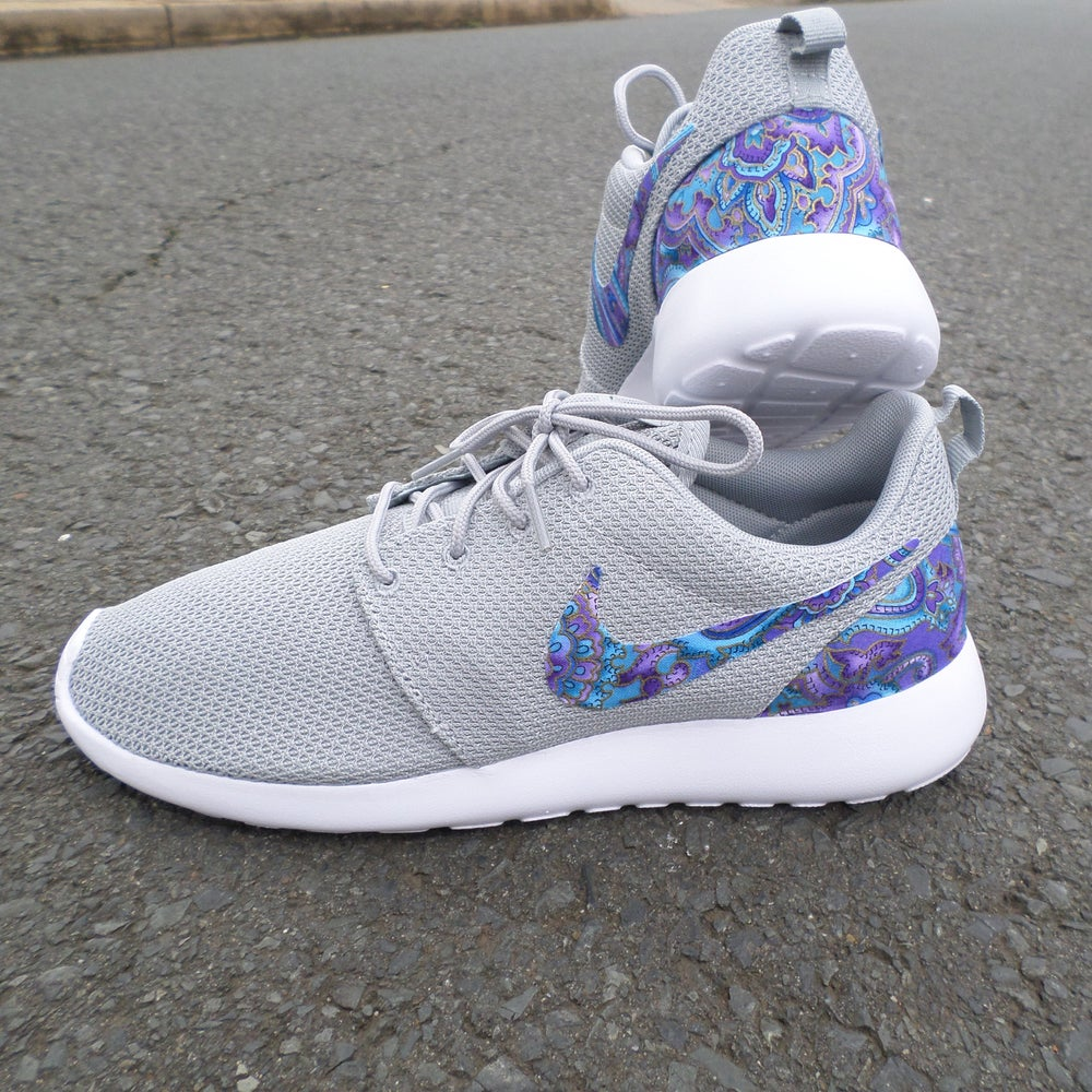 "Image of Custom Nike Roshe One ""Teal & Purple Paisley"""