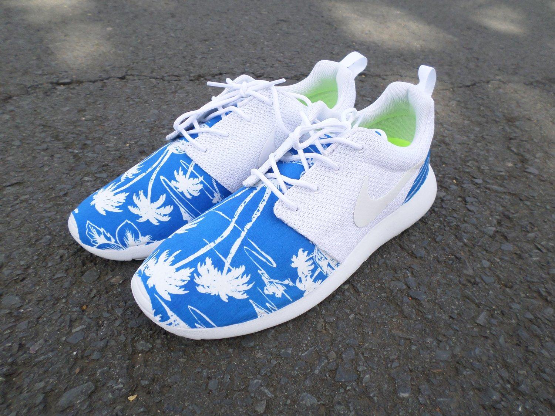 """Image of Custom Nike Roshe One """"Tropical Blues"""""""