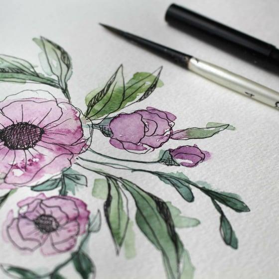 Image of Botanical Illustration & Watercolor<br>April 23rd<br>10AM-12:30PM