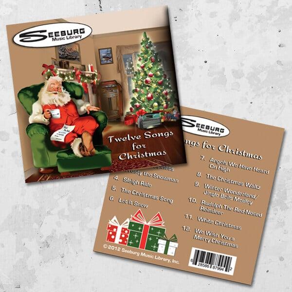 Image of Seeburg Music Library Twelve Songs for Christmas Music CD