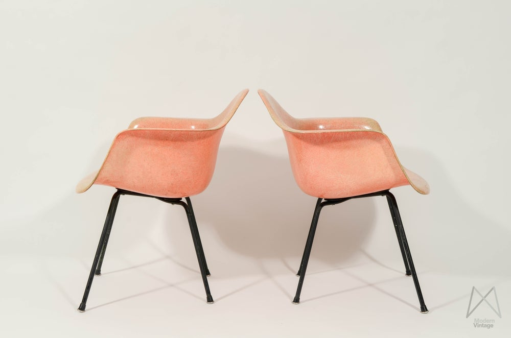 Image of Eames Zenith Rope Edge Salmon MAX set of 2 Rare Find