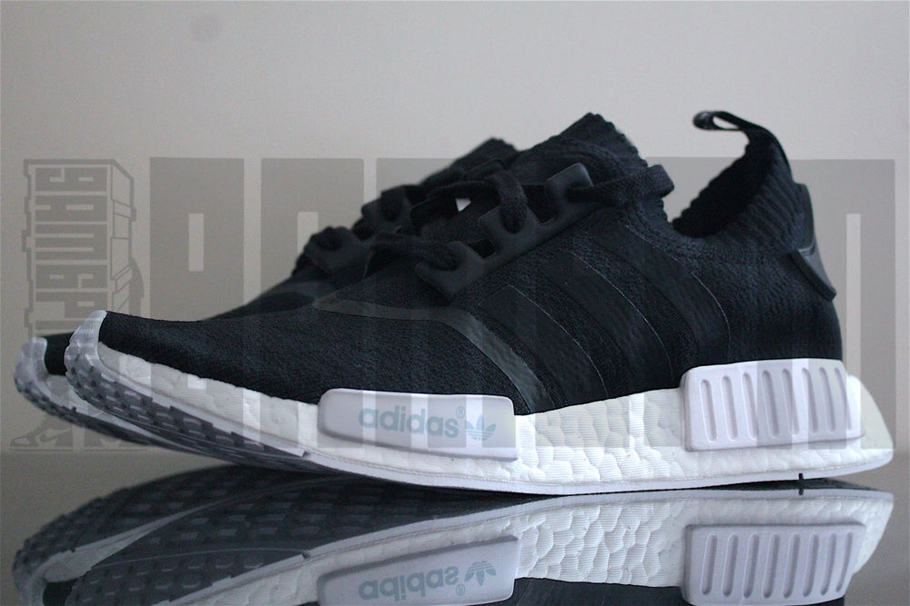 "Image of Adidas NMD R1 PRIMEKNIT ""MONOCHROME"" BLACK"