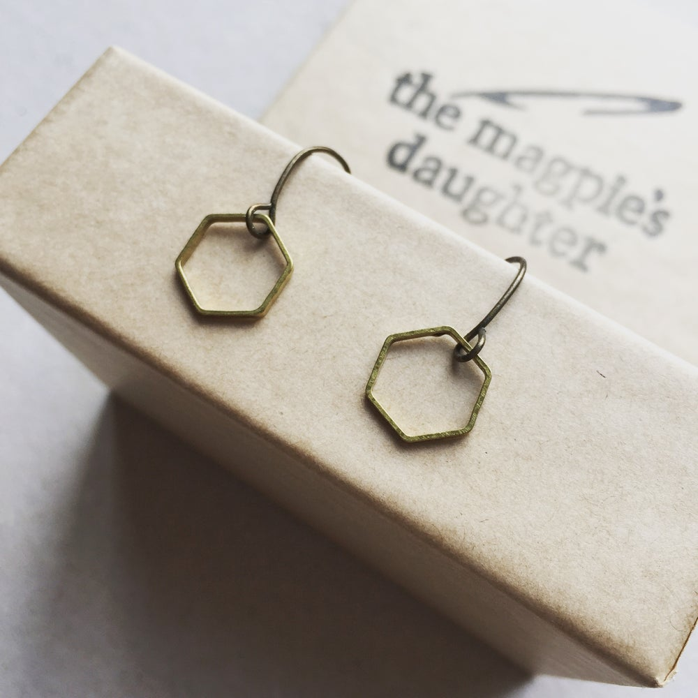 Image of Hexagon earrings by The Magpie's Daughter