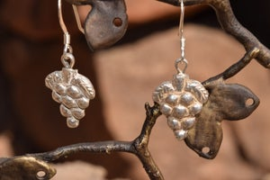 Image of Grape Repousse Earrings