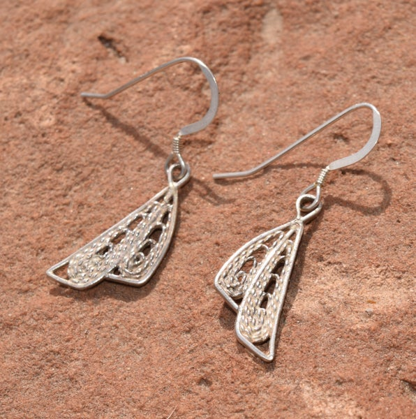 Image of Double Fan Filigree Earrings