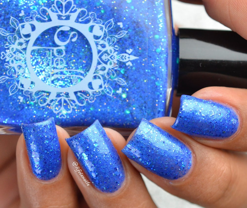 "Image of ~A Dusting of Stars~ royal blue glitter shimmer Spell nail polish ""Legends & Dreams""!"