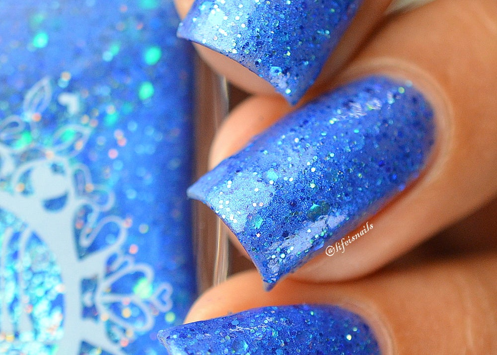"""Image of ~A Dusting of Stars~ royal blue glitter shimmer Spell nail polish """"Legends & Dreams""""!"""