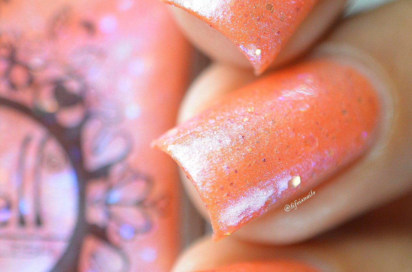 Riding on Coattails~ baby pink glitter shimmer Spell nail polish ...
