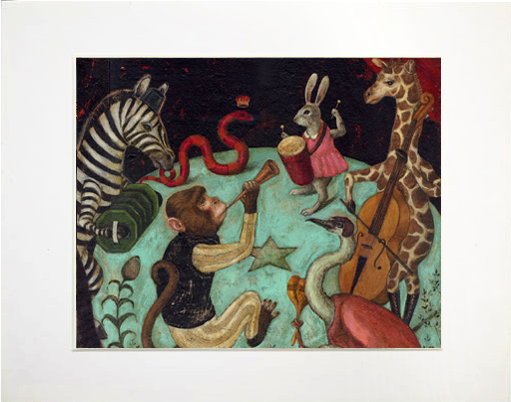 Image of Matted Print - Menagerie