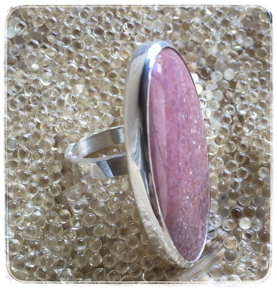 Image of Lacey - rhodochrosite & Sterling Silver Ring
