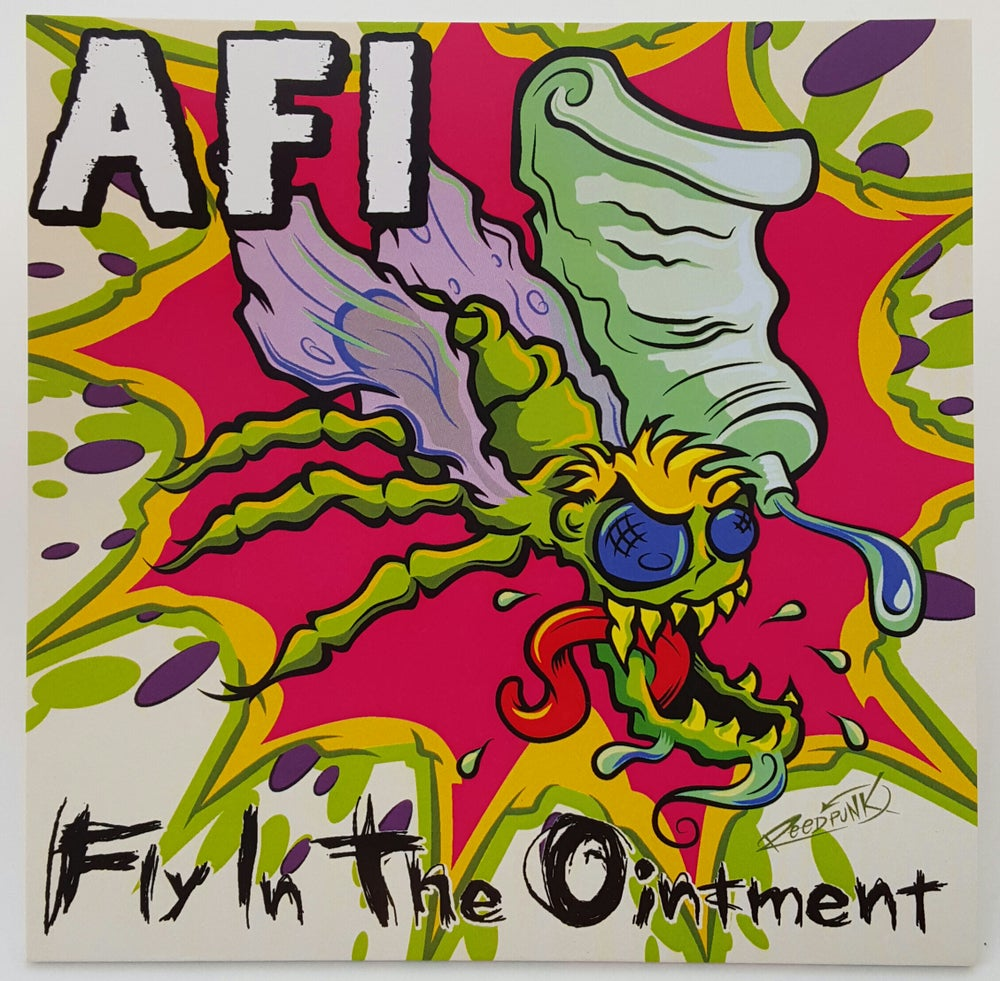 "Image of WEDGE #1  AFI ""Fly in the Ointment"" 7"" Splatter Vinyl Edition!"