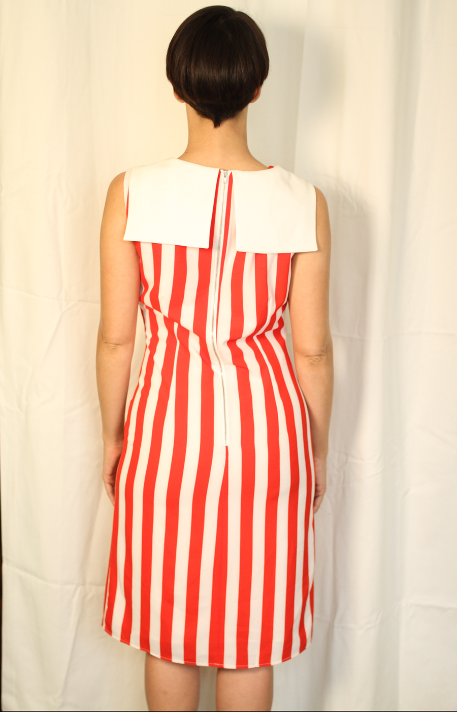 ee73e7ca6c2 Bestsolus Boutique NY — Sailor Red   White Vertical Striped Dress