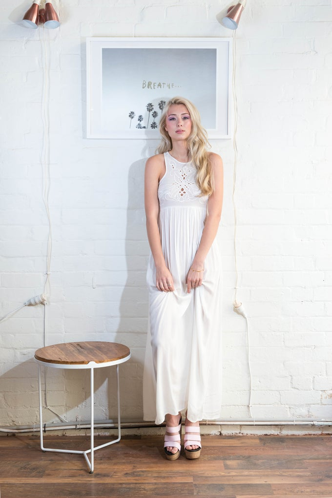 Image of NIKKI DRESS - WHITE