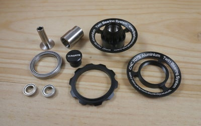 Image of Ti Parts Workshop  Aluminum Chain Tensioner Wheel with Ti Axle