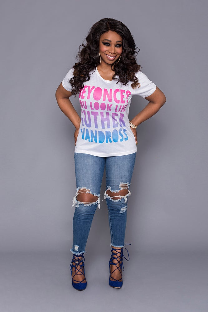 Image of Beyonce ? You Look Like Luther Vandross Unisex T-Shirt