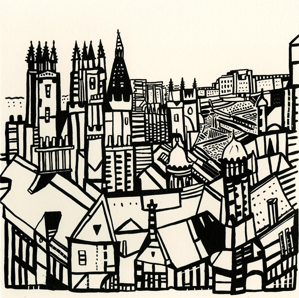 Image of Edinburgh view screen print