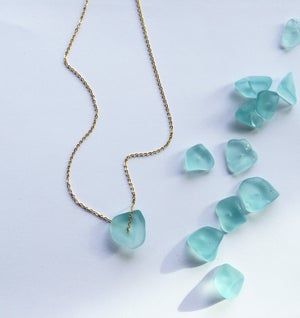 Image of Sea Necklace - tumbled glass SOLD OUT