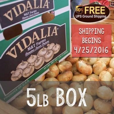 Image of 5lb Box of Vidalia Onions
