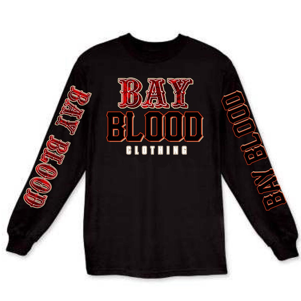 "Image of ""Frisco"" Bay Blood Long Sleeve Tee (black)"