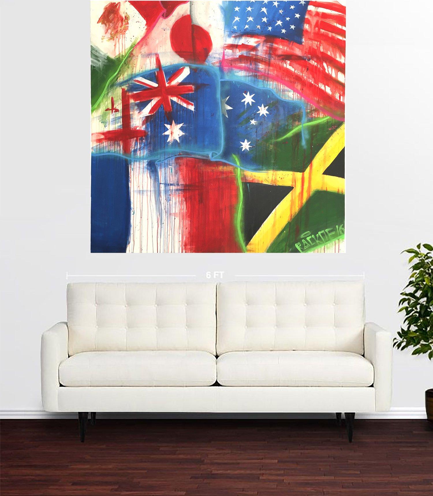 "Image of Travel 48 x 48 "" Original Painting"