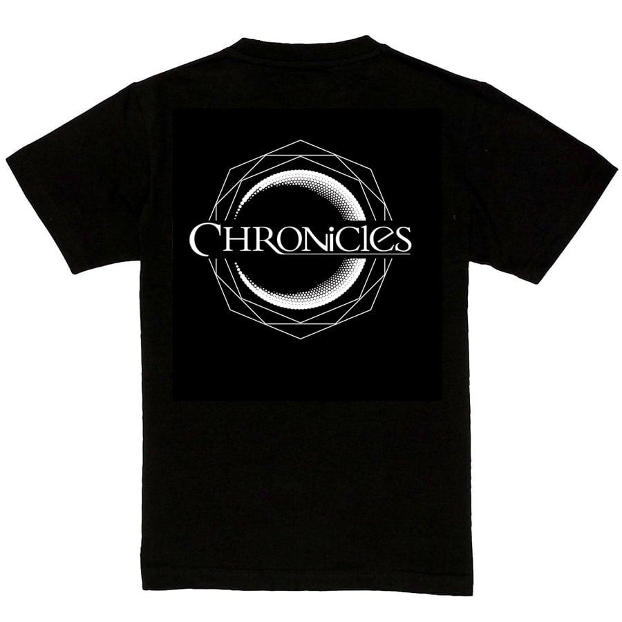 Image of CHRONCILES T-shirt MEN OR GIRLY - BLACK