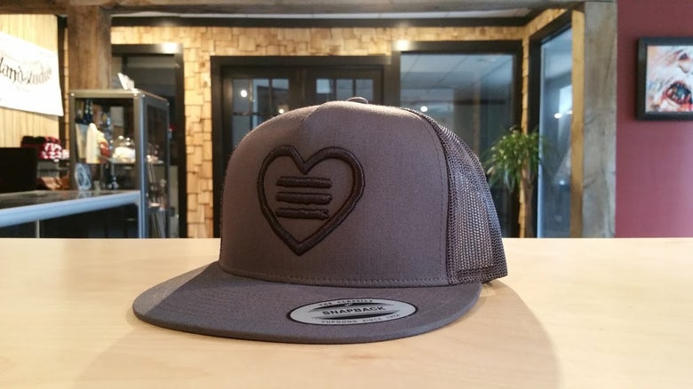 Image of Heart Logo 3D Embroidered Trucker Hat Snapback