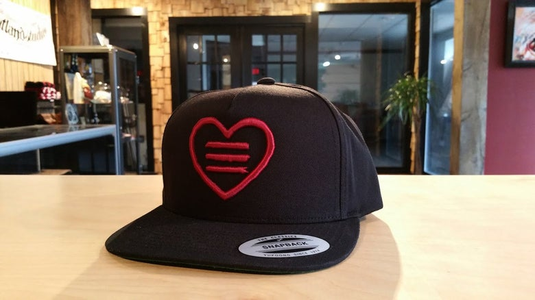 Image of Heart Logo 3D Embroidered Snapback