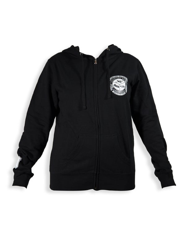 "Image of SMUGGLERS UNION ""UNION SEAL"" WOMENS (Zip Up Sweatshirt)"