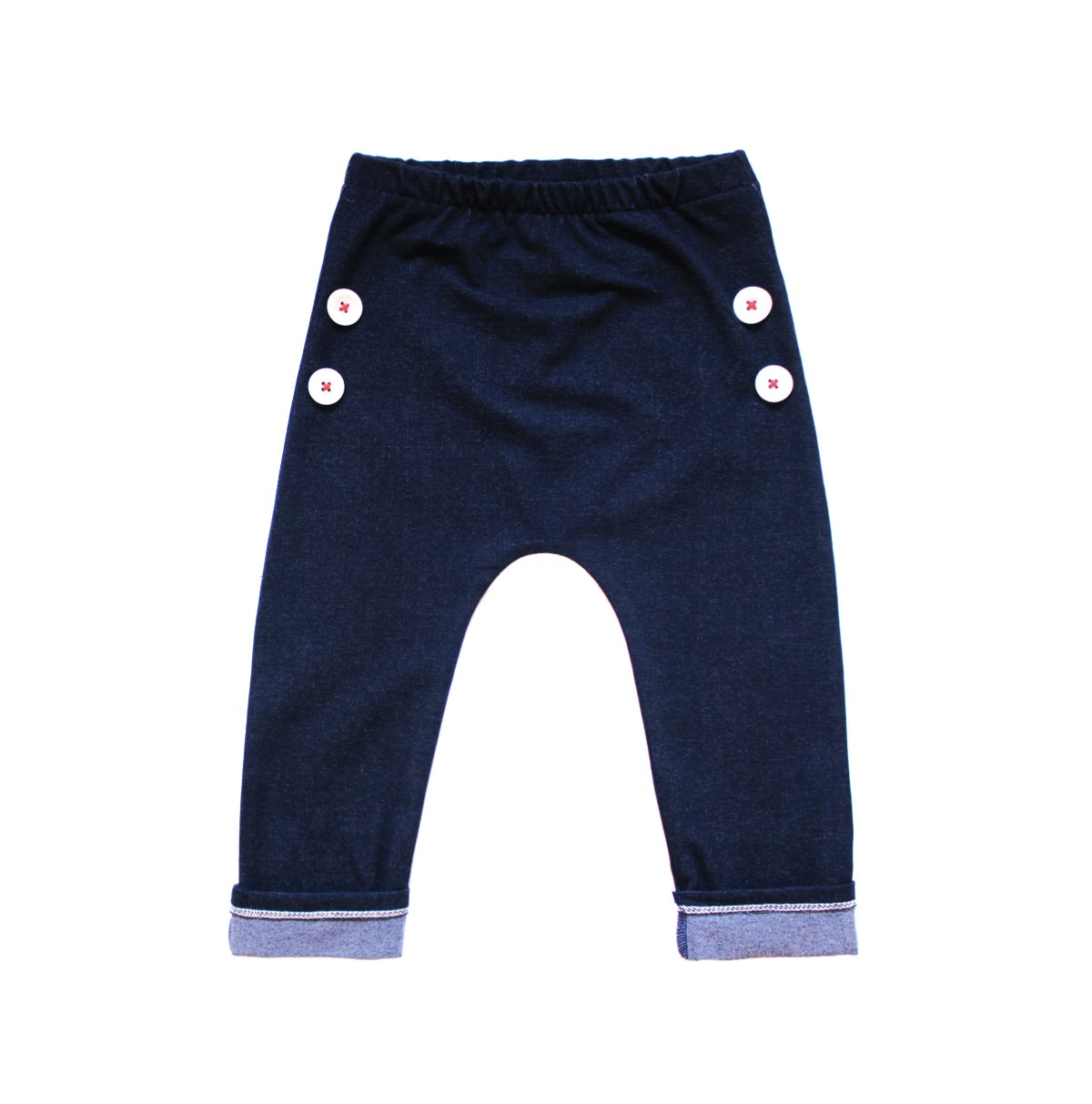 Image of Denim Button Pants