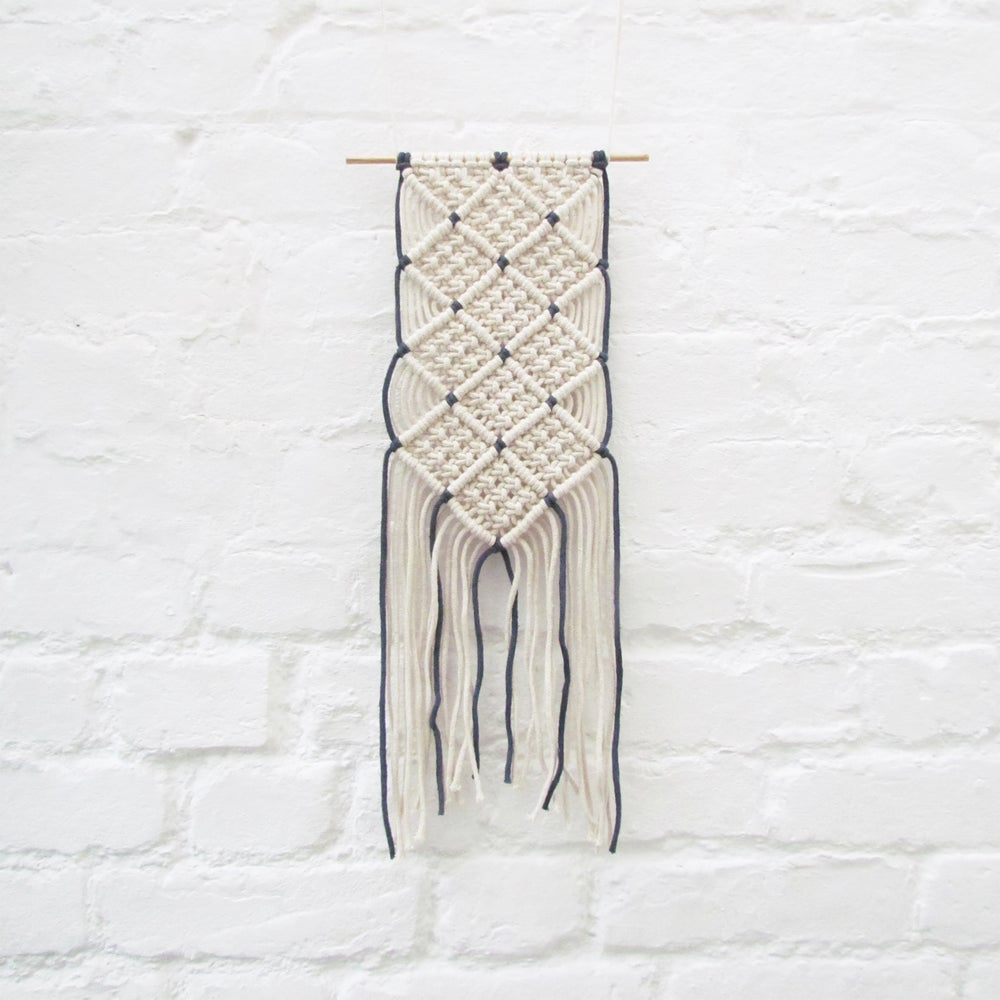 Image of Macrame Wall Hanging - Denim Blue