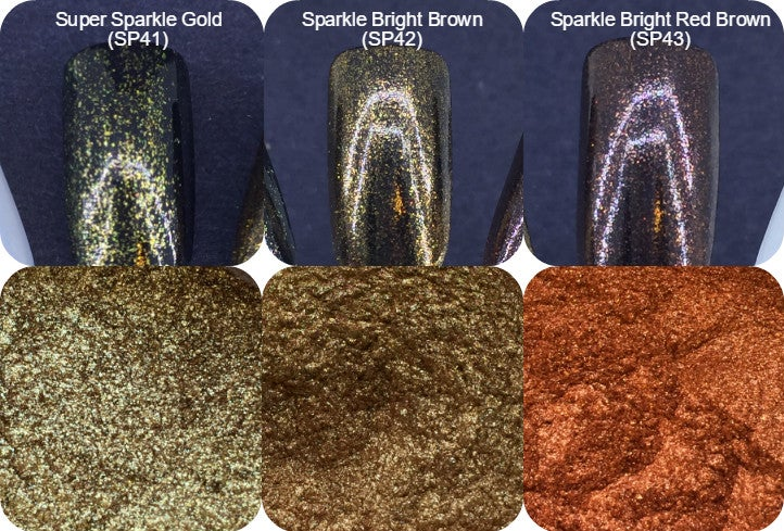 """Image of Sparks """"Super"""" and """"Sparkle"""" Bright Pigments </p> 3 New Colors!"""