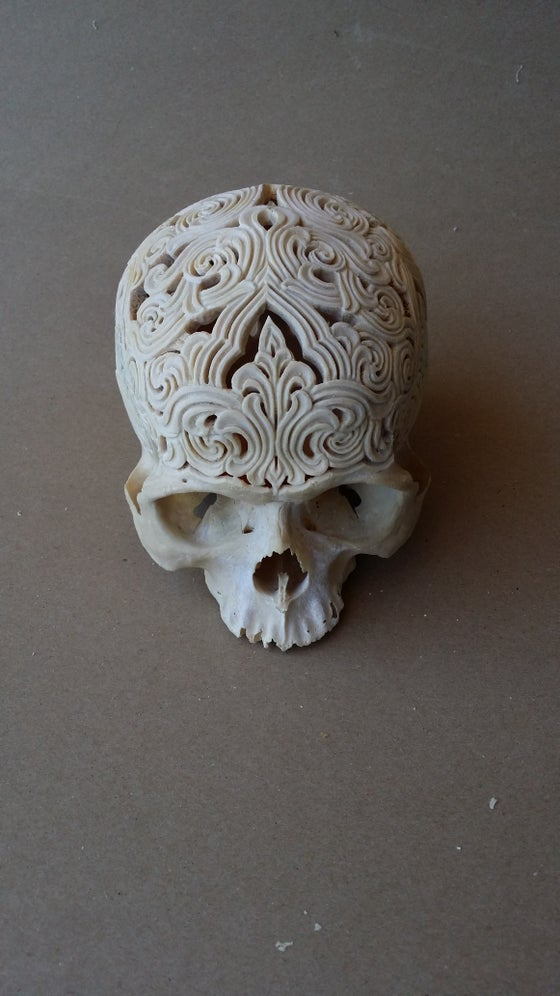 Image of Carved human skull 1