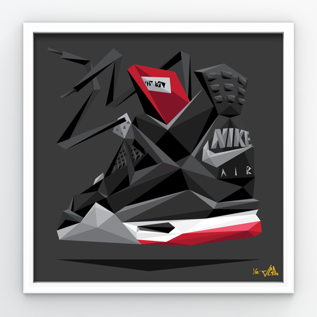 """Image of JCRo """"Bred 4"""" Print in 275 triangles"""