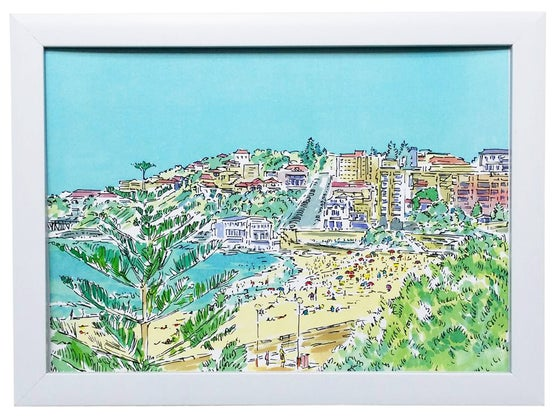 Image of Coogee Beach Watercolour Art Print