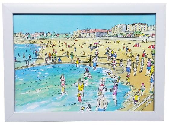 Image of Bondi Beach Kid Pool Watercolour Art Print