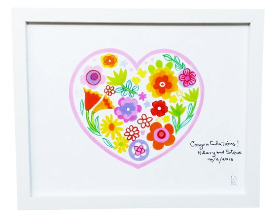 Image of Personalised Heart Art Print