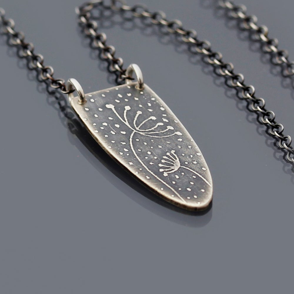 Image of Sterling Silver Sheltering Blossoms Necklace