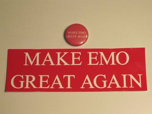 Image of Make Emo Great Again Button/Sticker set